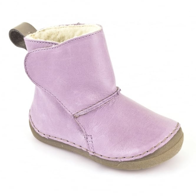 Froddo Minis Ankle Boot G2160025-6 Lilac, wooly lined ankle boot