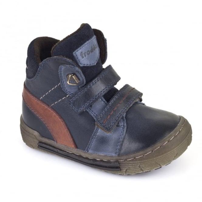 Froddo Boys Velcro Ankle Boot G2110052 Blue, velcro ankle boot