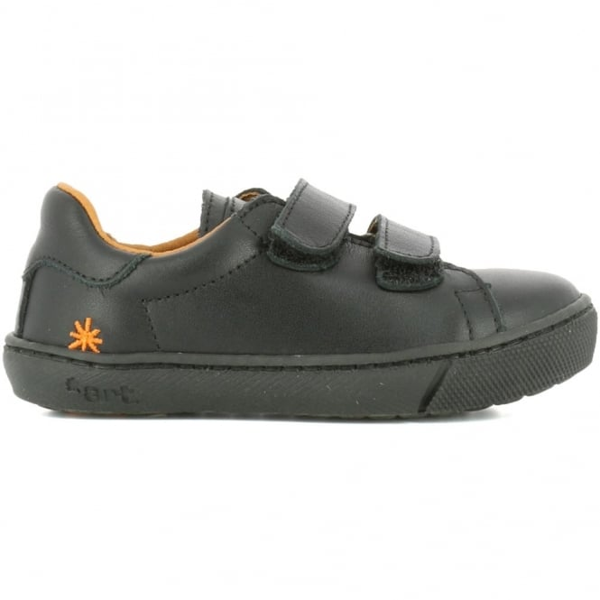 The Art Company A540 Junior Dover Star Black (Velcro Strap), velcro leather school shoe