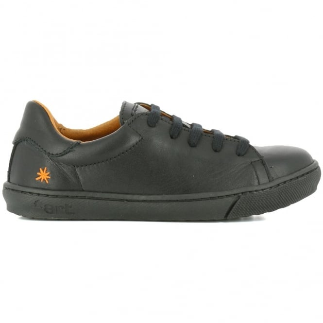 The Art Company A539 Youth Dover Star Black, laced leather school shoe