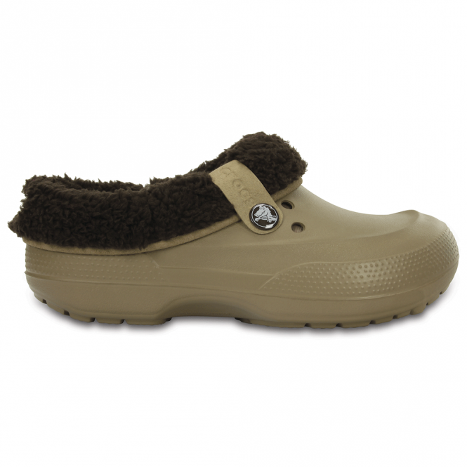 Crocs Blitzen II Clog Graphic Khaki/Espresso, easy to remove liner