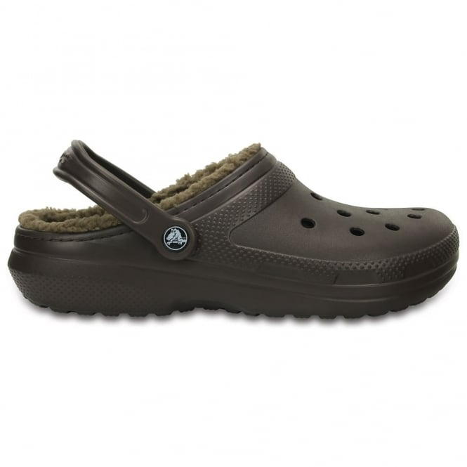 Crocs Classic Lined Clog Espresso/Walnut, the Classic Clog but with a warm fuzzy lining
