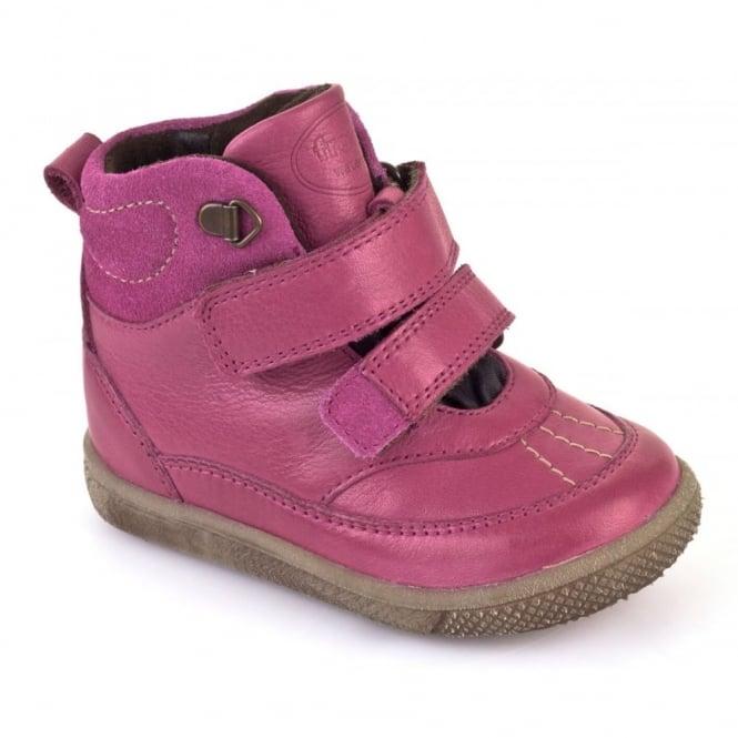 Froddo G2110054-2 Waterproof Boot Fuchsia, velcro boot with warm lining