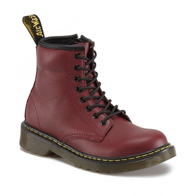 Dr Martens Delaney Boot Cherry Red, the classic Dr Martens for tiny feet