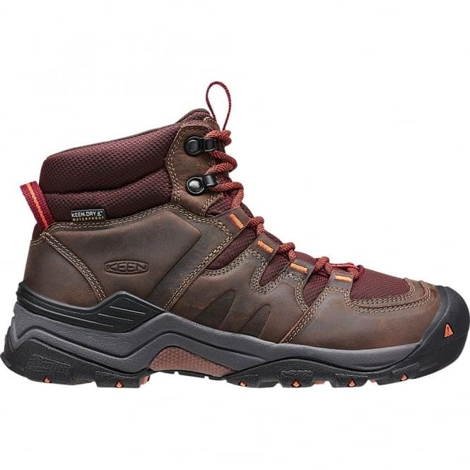 KEEN Womens Gypsum II Mid Cocoa/Tiger Lilly, waterproof walking boot
