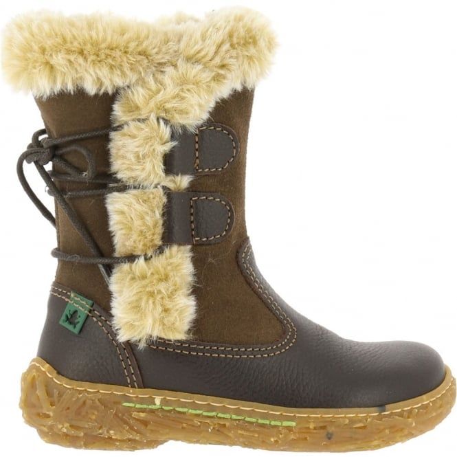 El Naturalista E755 Nido Brown, leather boot with warm lining