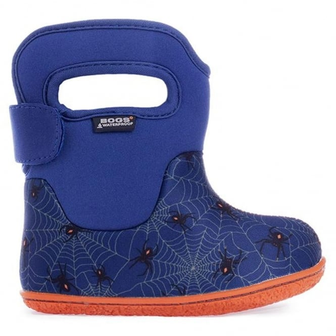Bogs 718671 Infant Classic Creepy Crawler Blue Multi, 100% waterproof wellington boots with snuggly warm lining