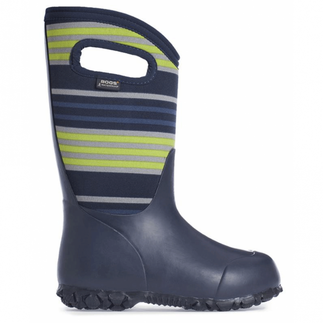Bogs 72008 Durham Stripes Dark Blue, 100% waterproof wellington boots