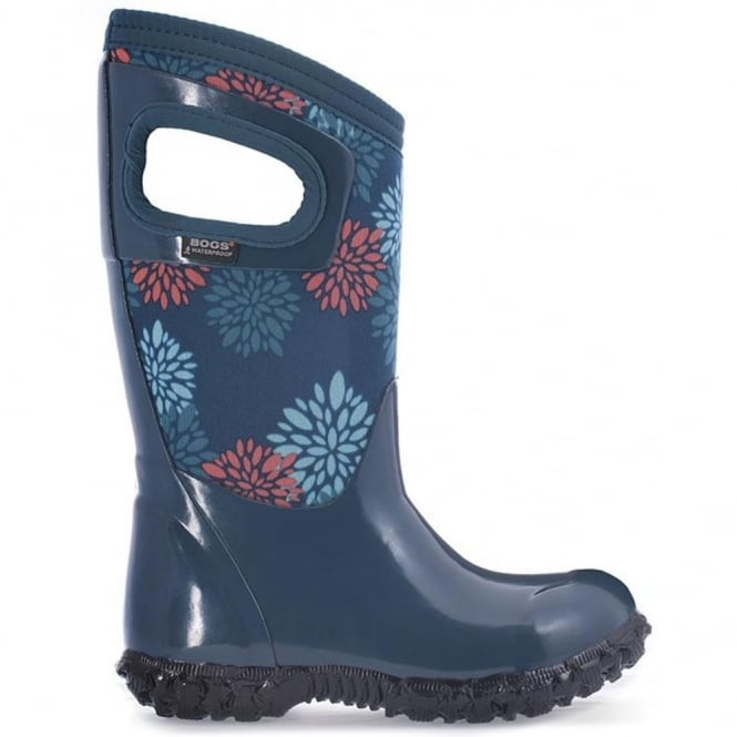 Bogs 72007 North Hampton Pompons Legion Blue Multi, 100% waterproof wellington boot