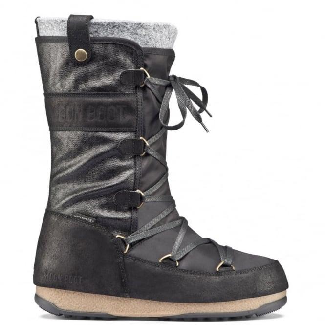 MoonBoot Moon Boots Monaco Mix Black, Waterproof Iconic Boot