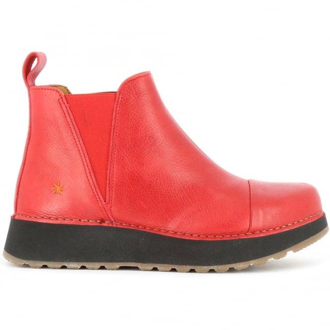 The Art Company 1023 Heathrow Carmin, slip on leather ankle boot