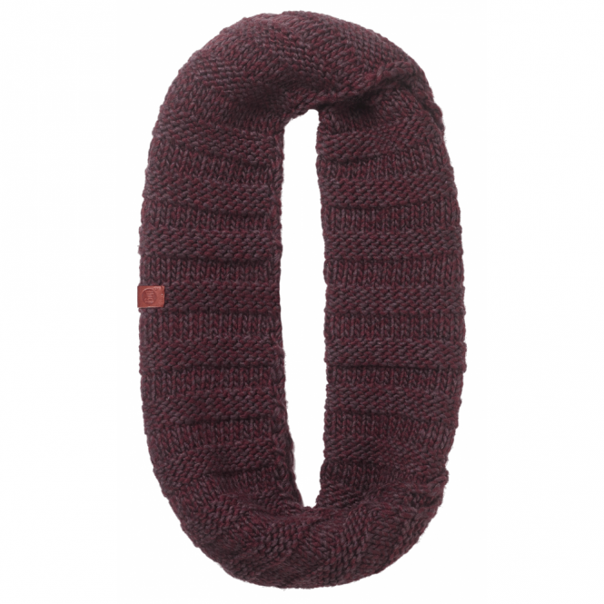 Buff Dean Knitted Infinity Neckwarmer Wine, warm and soft knitted neckwarmer