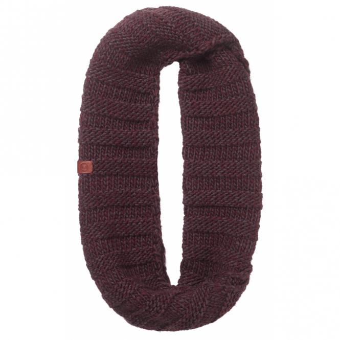 Buff Dean Knitted Infinity Neckwarmer Wine, warm and soft knitted neckwarmer
