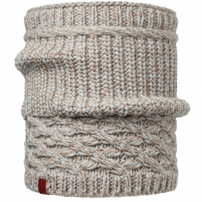 Buff Dean Knitted Neckwarmer Fossil, warm and soft knitted hat