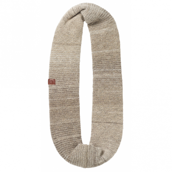 Buff Liz Knitted Infinity Neckwarmer Fossil, warm and soft knitted neckwarmer