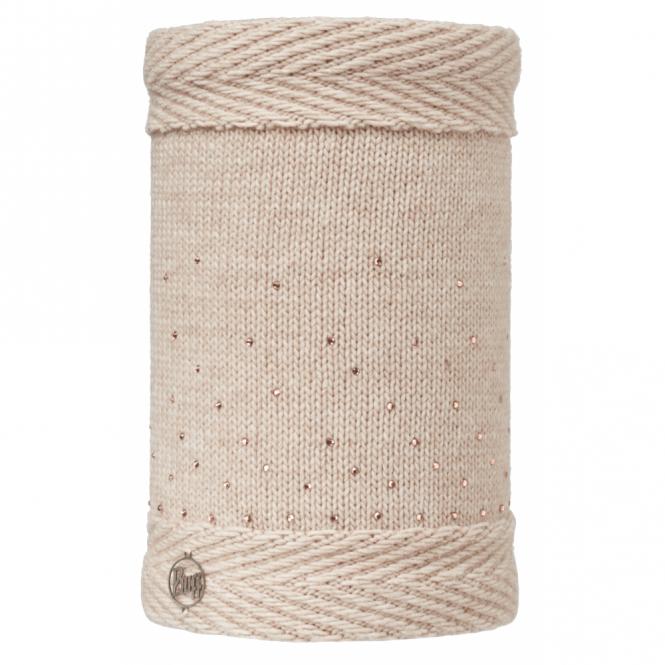 Buff Aura Knitted & Polar Fleece Neckwarmer Chic Cru/Cru, warm and soft neckwarmer with fleece lining