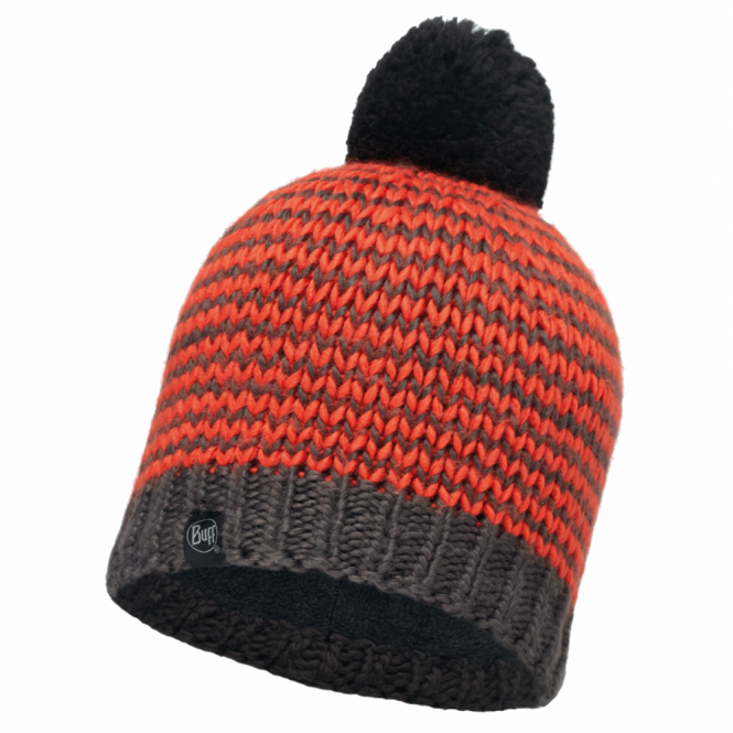Buff Dorn Hat Flame/Grey, warm and soft hat with fleece lining