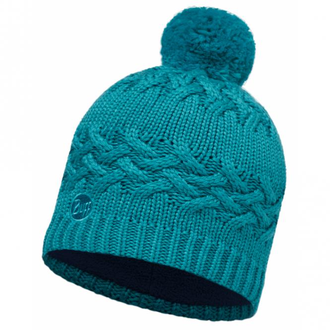 Buff Savva Hat Blue Capri, warm and soft hat with fleece lining