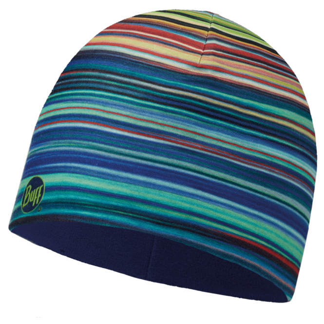 Buff Kids Microfiber & Polar Fleece Hat Apac Multi/Blue Depths, warm and soft hat with fleece lining