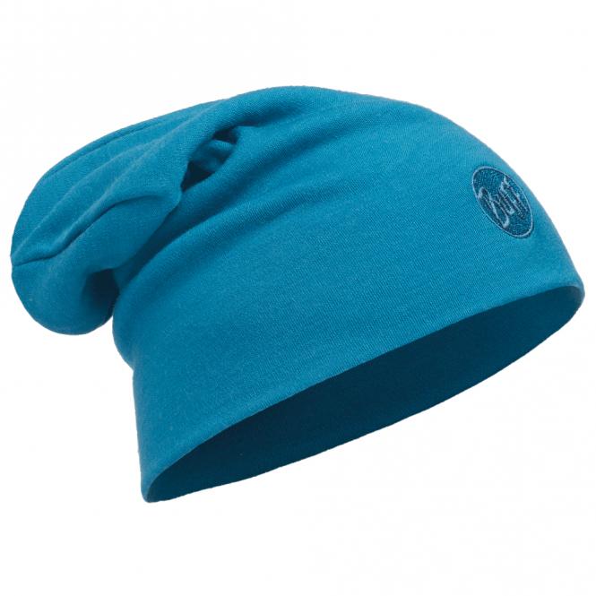 Buff Merino Wool Slouchy Thermal Polar Fleece Hat Ocean