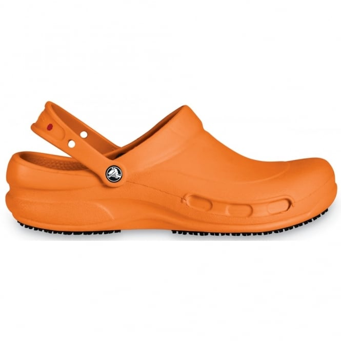 Crocs Bistro Orange -Mario Batali Edition, Enclosed croslite work clog with Crocs Lock slip resistant soles