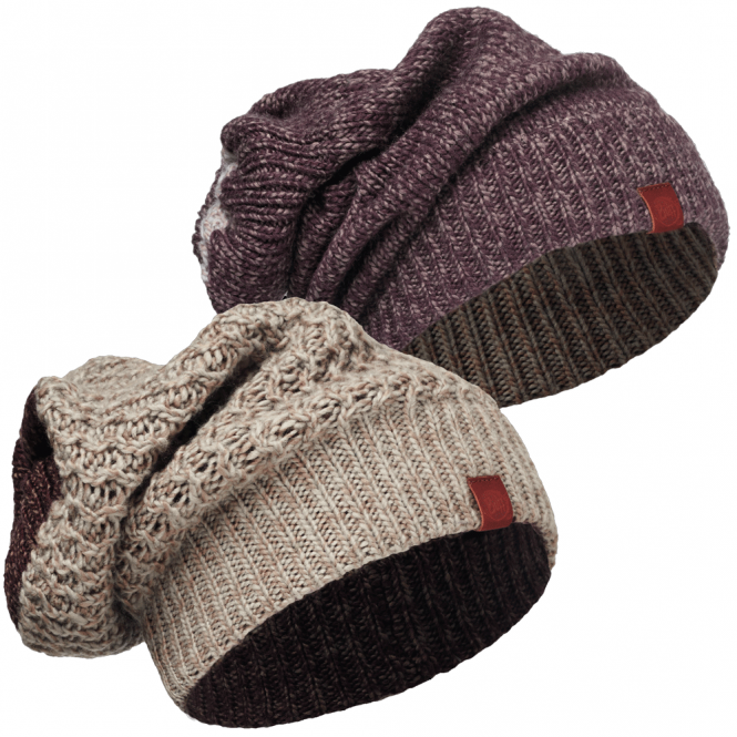 Buff Dean Knitted Hat/Neckwarmer Fossil, warm & soft hat and neckwarmer