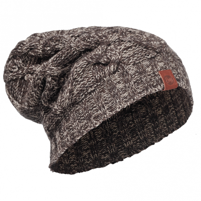 Buff Nuba Merino Wool Knitted Hat Nut, warm and soft merino wool hat