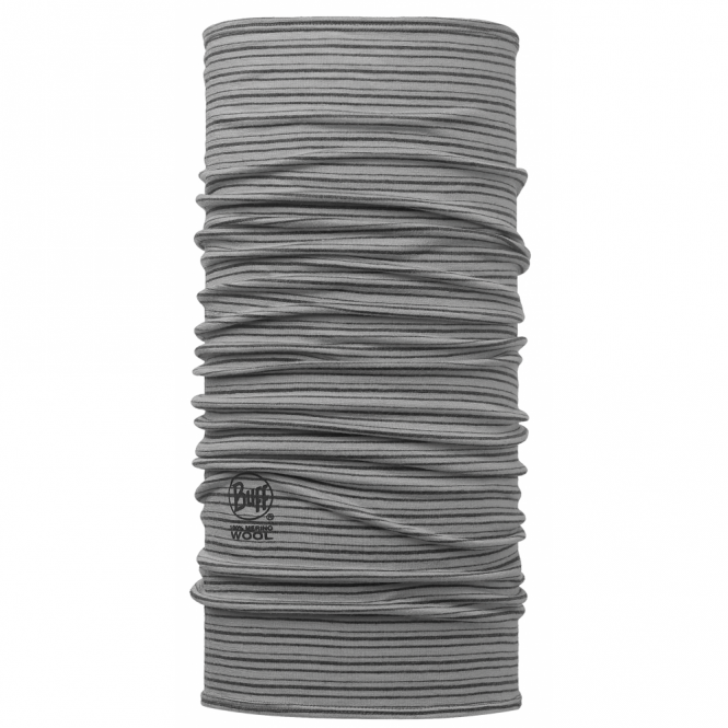 Buff Wool Buff Yarn Dyed Stripes Light Grey, Made from 100% Merino wool