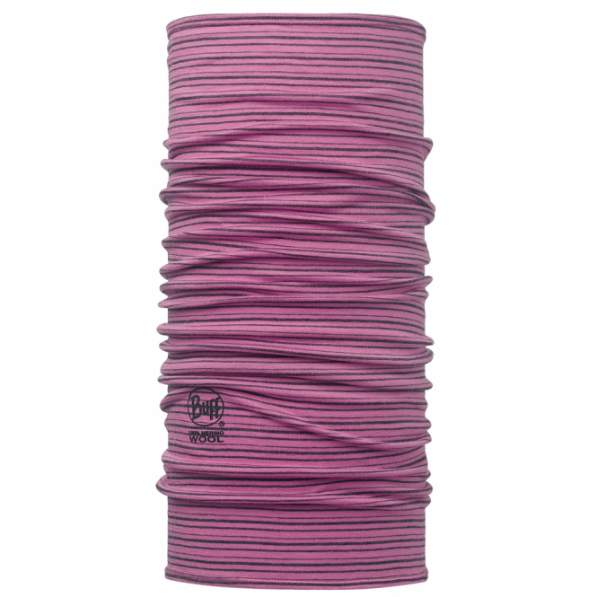 Buff Wool Buff Yarn Dyed Stripes Ibis Rose, Made from 100% Merino wool