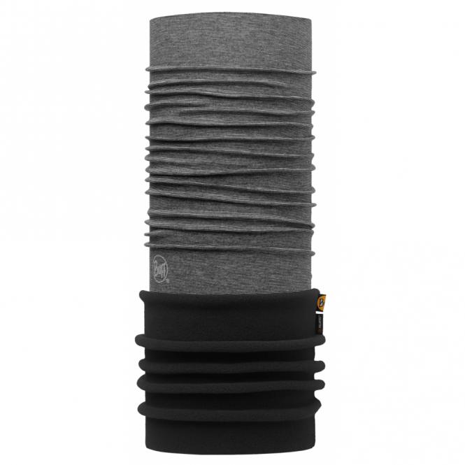 Buff Polar Buff Yarn Dyed Stripes Grey/Black, 2 Layer cylindrical headgear
