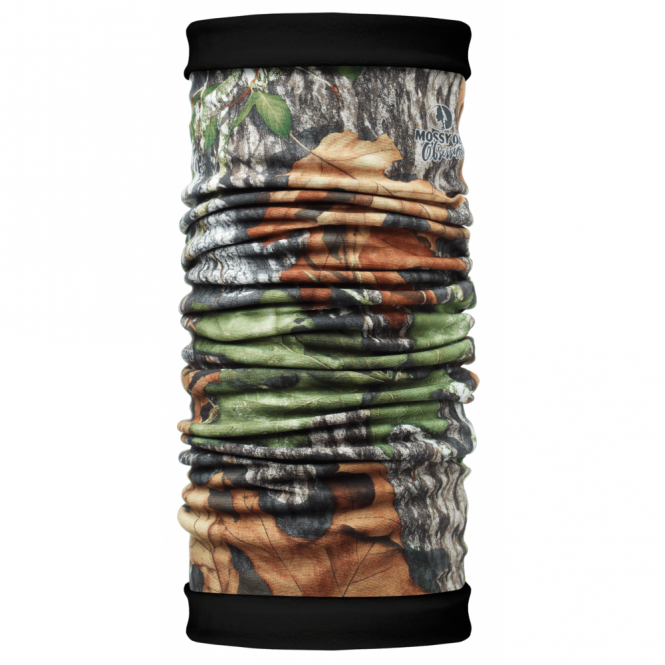 Buff Polar Buff Reversible Mossy Oak Obsession/Black, 2 Layer cylindrical headgear