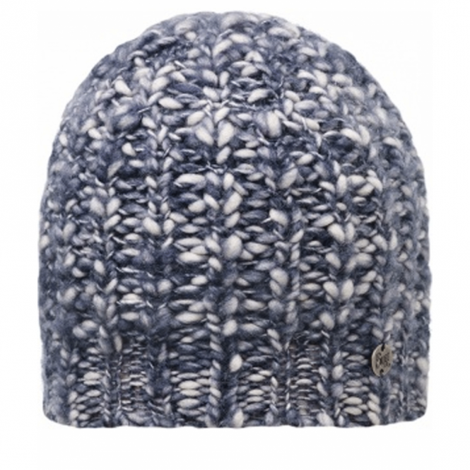 Buff Wool Blend Tay Indigo, Chunky knitted hat