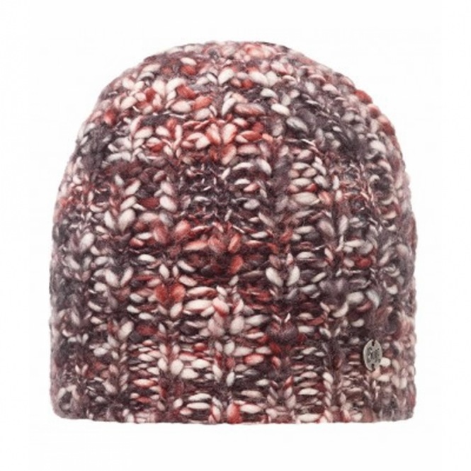Buff Wool Blend Tay Ruby Wine, Chunky knitted hat