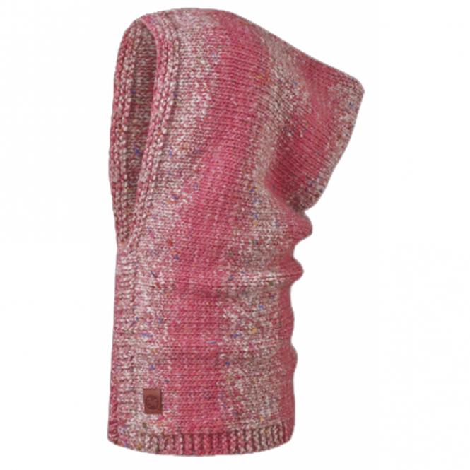 Buff Hoodie Buff Blend Baram Paradise Pink, Cunky knitted hoodie buff
