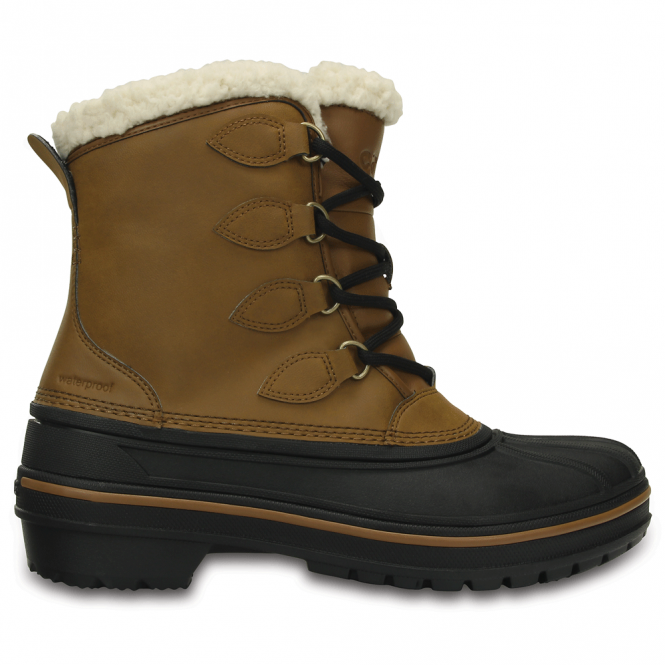 Crocs Womens AllCast Boot Wheat, waterproof Crocs boot