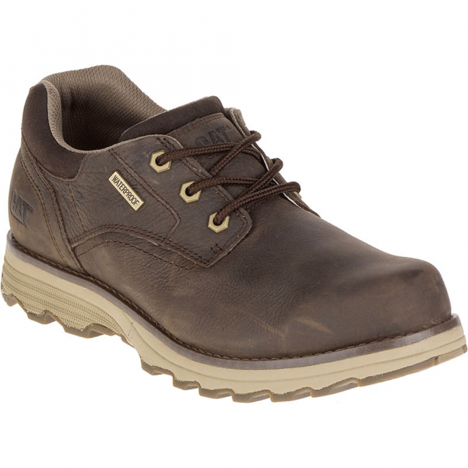 CAT Mens Prez WP Dark Brown, waterproof shoe