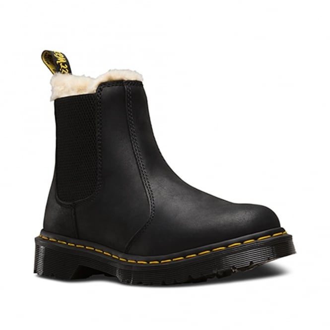 Dr Martens Leonore Chelsea Boot Black, slip on leather chelsea boot
