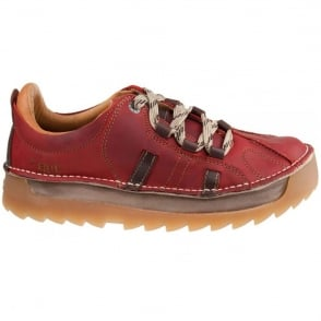The Art Company 0602  Skyline Shoe Red, Chunky leather lace up shoe