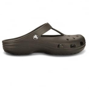 Candace Clog Espresso, feminine version of classic crocs
