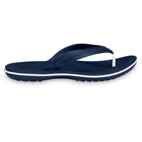 Crocs Crocband Flip Navy, lightweight comfort with circulation nubs for blood flow stimulation