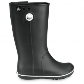 Crocs Jaunt Boot Black, Fully molded Croslite light weight wellington boot