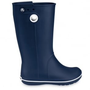 Crocs Jaunt Boot Navy, Fully molded Croslite light weight wellington boot
