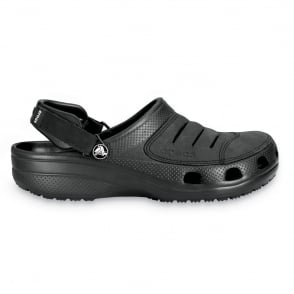 Crocs Yukon Shoe Black, A leather topped croslite clog