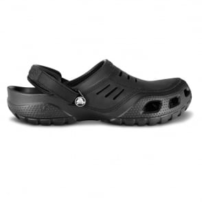 Crocs Yukon Sport Black, Men's Leather Topped Slip on Shoe
