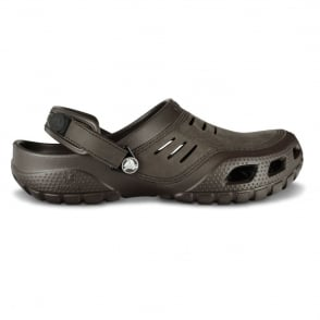 Crocs Yukon Sport Espresso, Men's Leather Topped Slip on Shoe