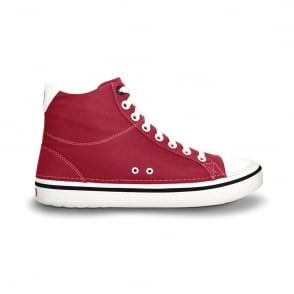 Crocs Hover Mid Red, Casual hi-top trainer style shoes, with comfortable Croslite footbed and washabe canvas upper