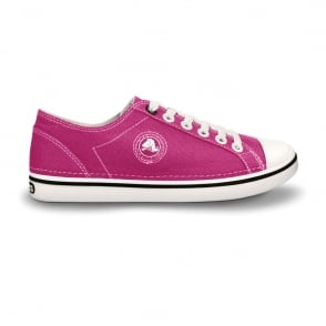 Crocs Womens Hover Lace Up Raspberry/White, Light weight canvas lace up shoe