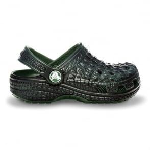 Kids Crocskin Classic Shoe, Original slip on Crocs with Crocodile look