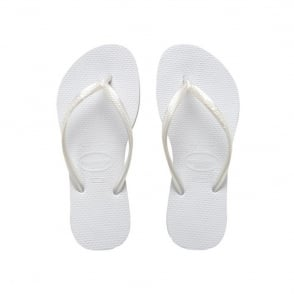 Havaianas Slim White, Slender Flip Flops