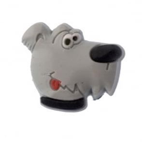 Jibbitz Dog Grey